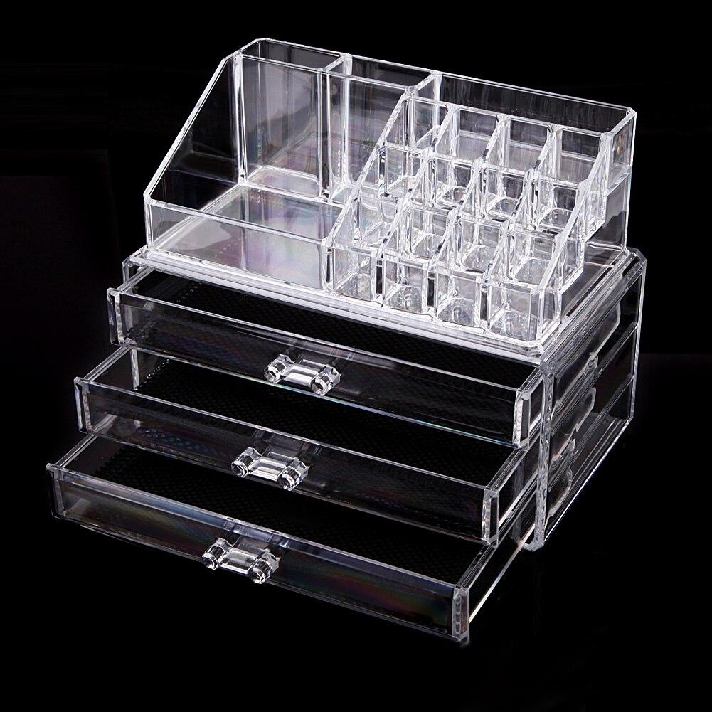 Косметический Организатор Макияж для хранения ювелирных изделий Губная Помада Make-Up щетки Дисплей Box акриловый чехол стойки