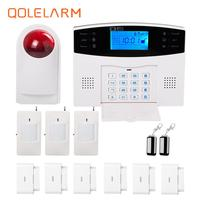 433MHz wireless Polish/Spanish/French voice home alarm system anti theft security sms gsm alarm system with wireless siren