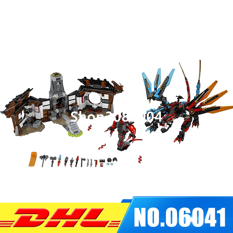 цены IN-STOCK Lepin 06041 1158Pcs Ninjaed Series Of Dragon Forging Assembled Building Blocks Bricks Toys Compatible With 70627