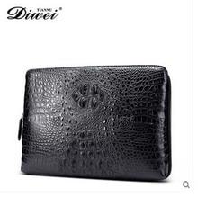 diwei 2017 new hot free shipping thailand crocodile skin men handbag male high-volume business  men day clutches men wallet