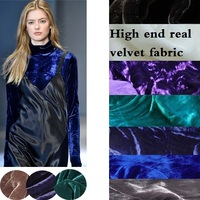 free shipping 15color silk velour fabric silk velvet fabric for velvet dress silk fabric