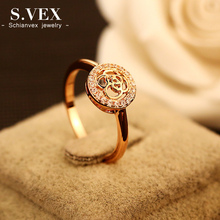 S.vex 2017 New Arrival Wome Flower Rings Fashion Rose Top Quality Female Finger Crystal Ring Jewelry Accessory XH-RG009