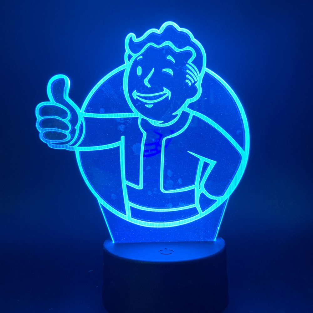 3d Led Night Light Game Fallout Shelter Color Changing Nightlight Gift For Kids Child Bedroom Decoration Table Lamp 3d Bedside