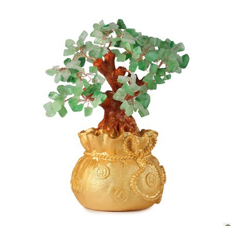 US $26 66 |natural Crystal lucky tree, the lucky feng shui tree as the  mascot, bring in wealth and treasure fortune tree green-in Stones from Home  &