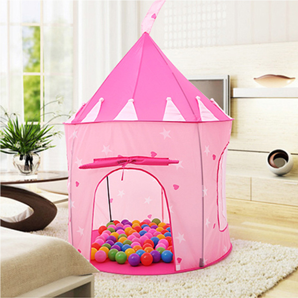 Kids Play Tent Playhouse Portable Children Kids Play Hut House Outdoor Garden Folding Toy Tent Pop Up Girl Princess Castle Play Tent