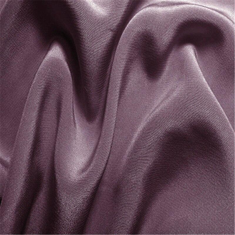 16 мм эластичный шелк крепдешин ткань шелк тутового шелкопряда 108 см ширина серебристый черный синий фиолетовый 10 метров маленькая - Цвет: 09