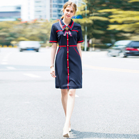 Runway High Quality 2018 Summer New Women S Fashion Party Professional Office Bow Vintage Elegant Chic
