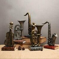 Creative Musical Instrument Model Coffee Bar Home Store Wine Cabinet Sachs Violin Model Retro nostalgic Small Ornaments Decor