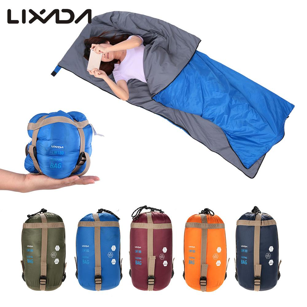 Lixada 190 * 75cm Outdoor Envelope Square Sleeping Bag ...