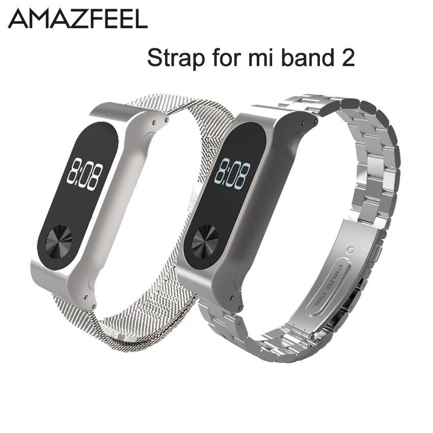 Mi2 Cinturino In Metallo per Xiaomi Mi Band 2 Cinghia di Metallo Acciaio braccialetto Senza Viti Inox Pulseira Mi Band 2 Braccialetti Miband 2 Cintura