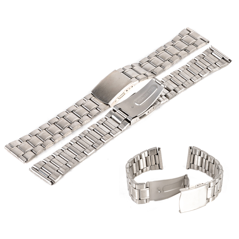 b514bdaa4fa Luxury Watch Band 14 16 18 20 22mm Stainless Steel Watch Bands Strap For  Wristwatch Double ...