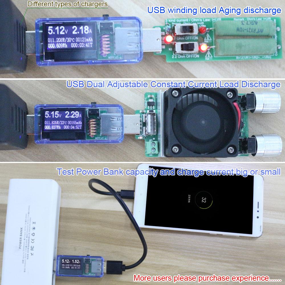 12/13 i 1 usb-testare DC effektmätare digital voltmeter voltimetro - Mätinstrument - Foto 5