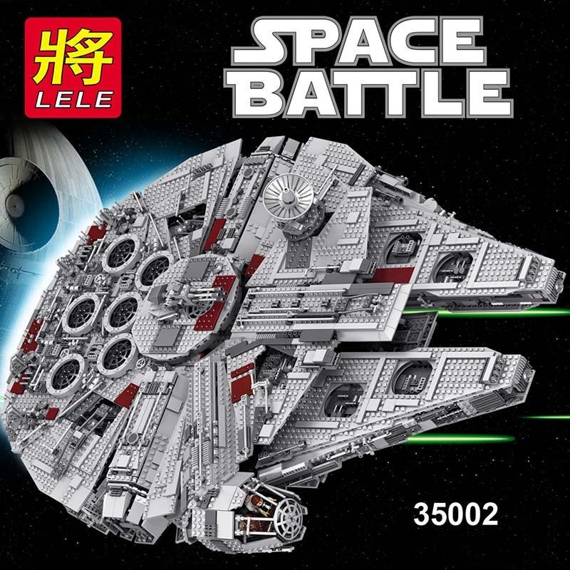 Galleria fotografica 5832 pz Grande Star Wars Set Millennium Falcon Seconda Generazione Building Block Kit Compatibile <font><b>LegoINGLYS</b></font> <font><b>Technic</b></font> Giocattoli per I Bambini
