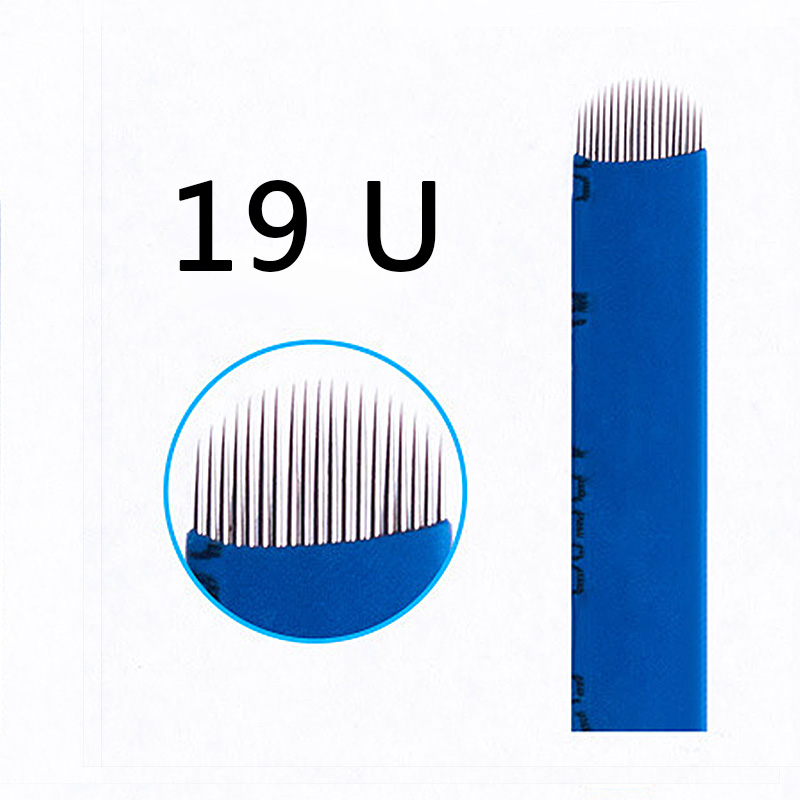 Tattoo Needles 500pcs 0.20mm Microblading Needles 12/14/15/16/18/21 U Shape Needles For Microblading Embroidery Pen Pernement Makeup Machine Beauty & Health