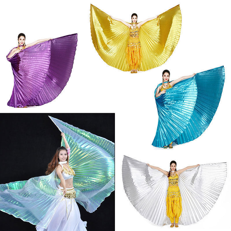 2019 Hot <font><b>Women</b></font> High Quality Belly Dance <font><b>Isis</b></font> <font><b>Wings</b></font> Oriental Design New <font><b>Wings</b></font> without Sticks image