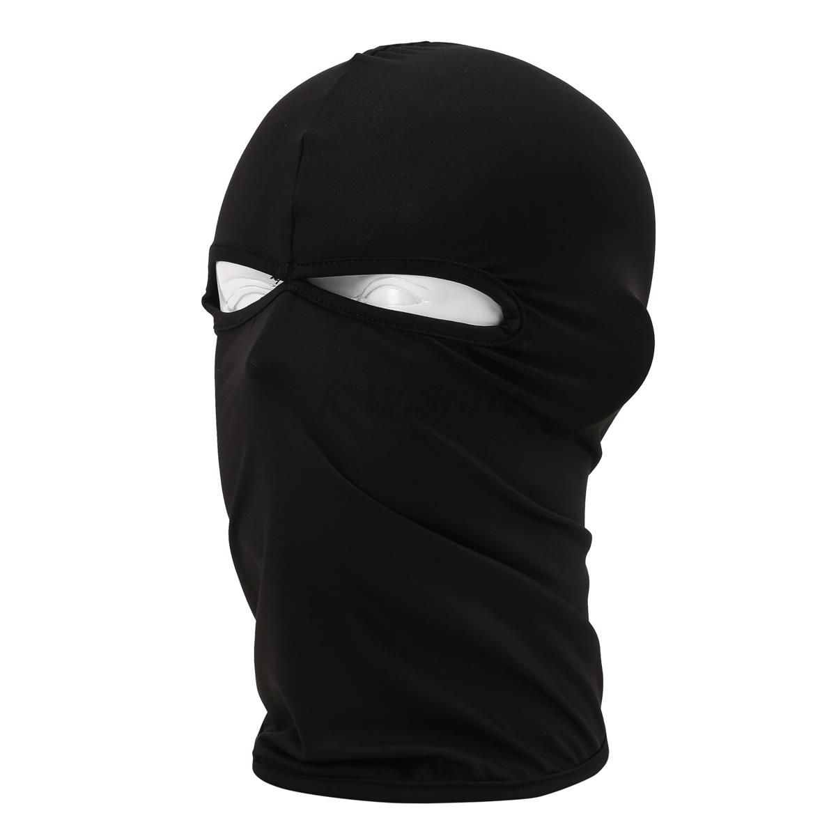 2017 Spring New 2 Hole Balaclava Hat Hunting Motorcycle Cycling Headwear  Military Tactical War Game face Full Mask Black chief sw2104 skull style full face mask for war game cs black