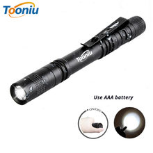 DZ50 Portable Mini Penlight Q5 250LM LED Flashlight Torch Pocket Light 1 Switch Modes Outdoor Camping Light Lamp panyue 2 packs xml t6 cob led mini pocket flashlight work light penlight torch lamp high 1000lumens 6 modes camping lanterna