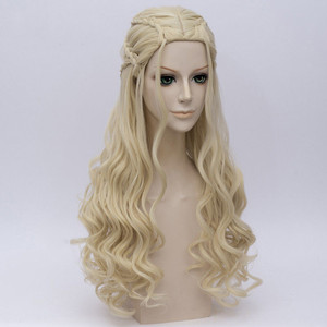 Image 4 - Game of Thrones Daenerys Targaryen Cosplay Wig Synthetic Hair Long Wavy Dragon of Mother Wigs Halloween Party Costume for Women