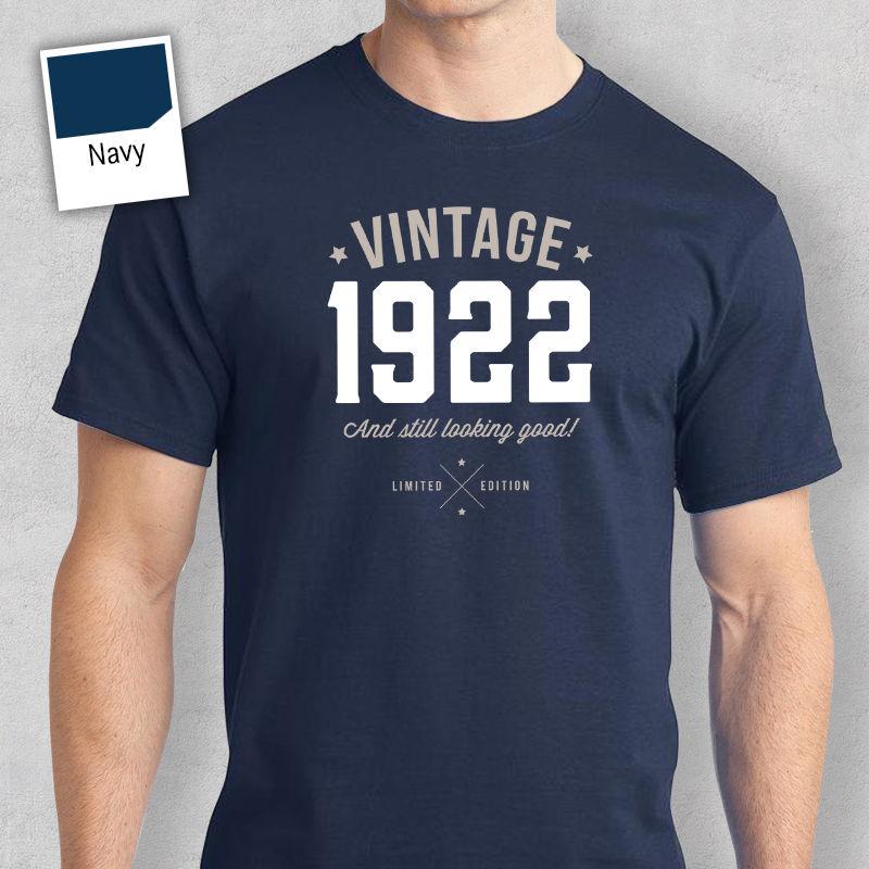 95th подарок на день рождения подарок идеи для Обувь для мальчиков Папа его Для мужчин футболка 95 футболка 1922 футболка Для мужчин Футболки для...