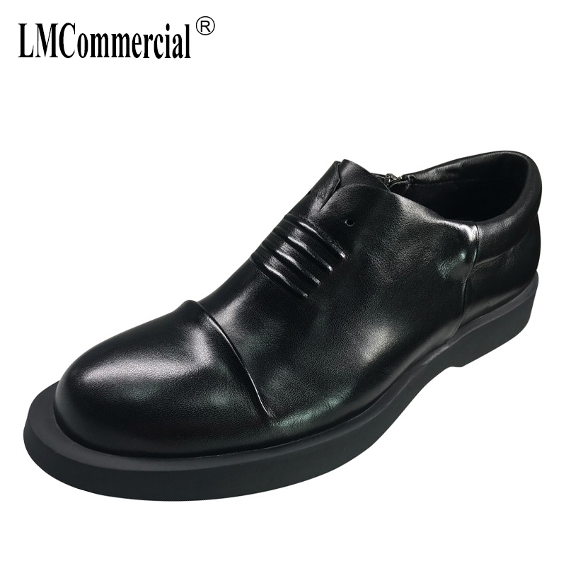 2018 New Genuine Leather Men's Business Shoes Spring And Autumn Summer British Retro All-match Cowhide Fashion Men Casual Shoes