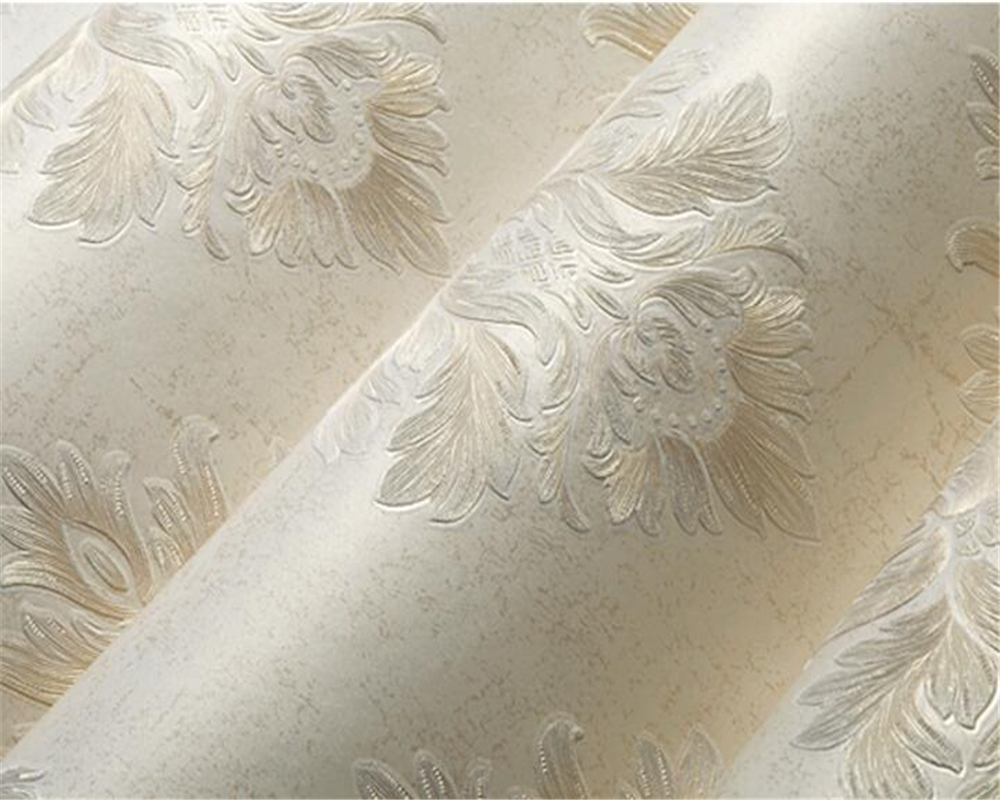Beibehang 3D en relief profond en relief papier peint style européen papier peint chambre salon étage complet 3d papier peint rouleau - 2