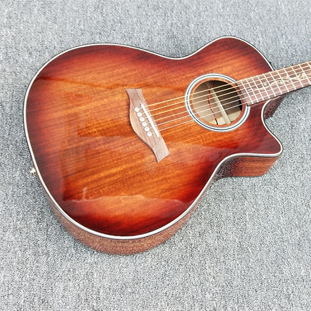 Bonne qualité Chaylor 41 pouces coupe K24ce solide KOA bois guitare électrique acoustique, livraison gratuite