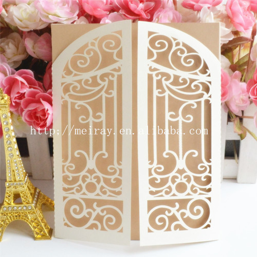 Laser cut wedding invitations 2015 paper cards printable card european design gate blank cards for Where can i use my synchrony home design card
