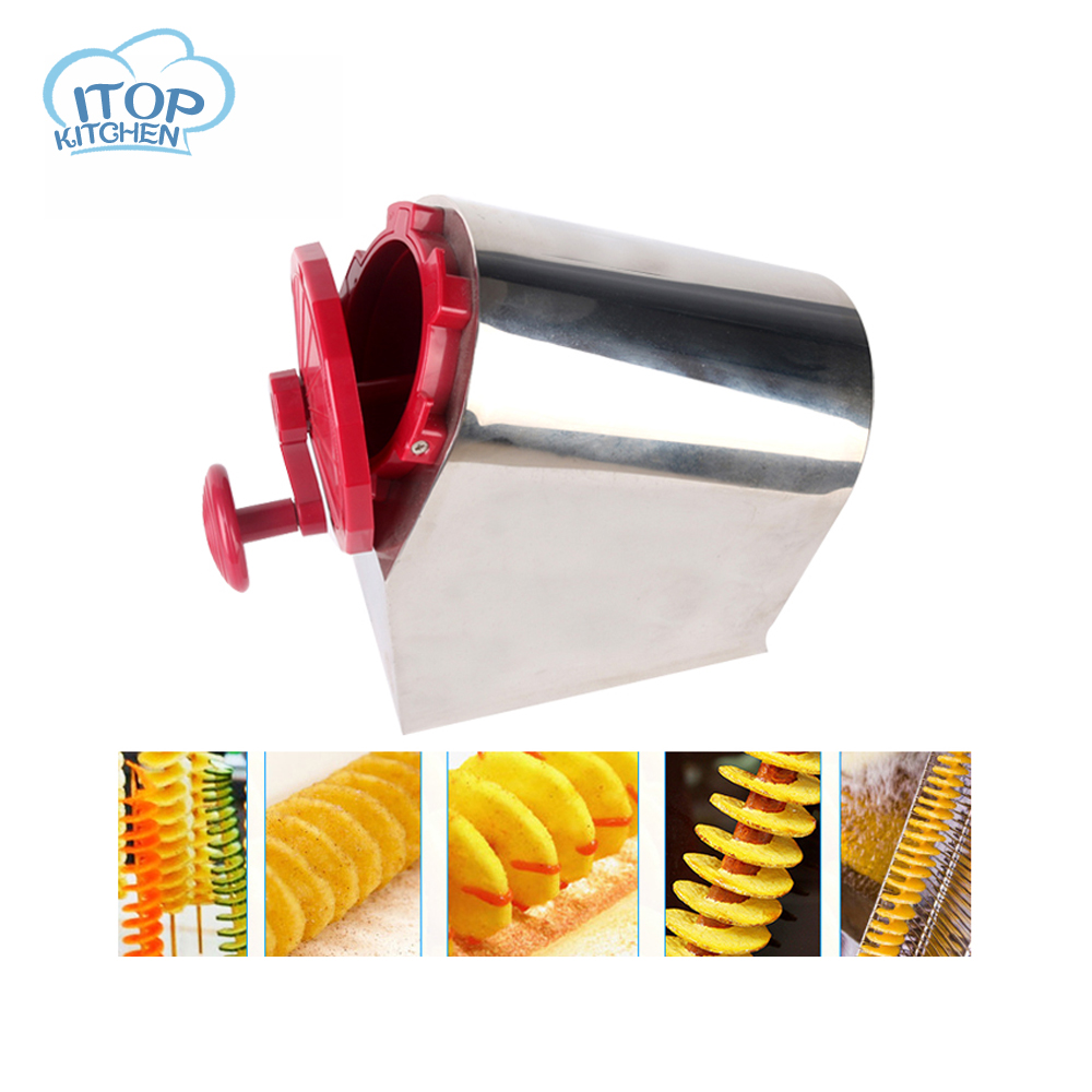 ITOP Tornado Potato Slicer Stainless Steel Vegetable Cutter Spiral Carrot Slicing Machine