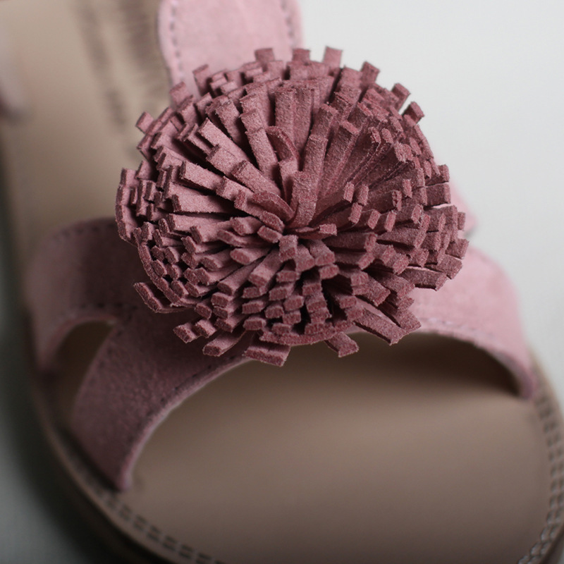 Girls sandals for 2017 summer genuine leather princess pink sandals girls sandals for 2017 summer genuine leather princess pink sandals with flowers flat heel soft sole top quality size 21 33 in sandals from mother kids on mightylinksfo Gallery