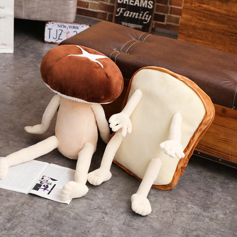 50/80 см милый гриб Плюшевые игрушки подушки хлеб кукла забавные игрушки для детей