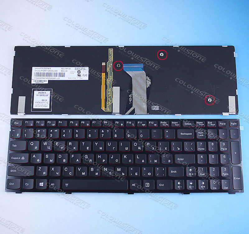 Russian laptop keyboard for Lenovo Ideapad Y500 Y500N Y500NT Y500S Y510 Y510P Y590 Y590N Backlit RUSSIA Keyboard MP-12B53SUJ686