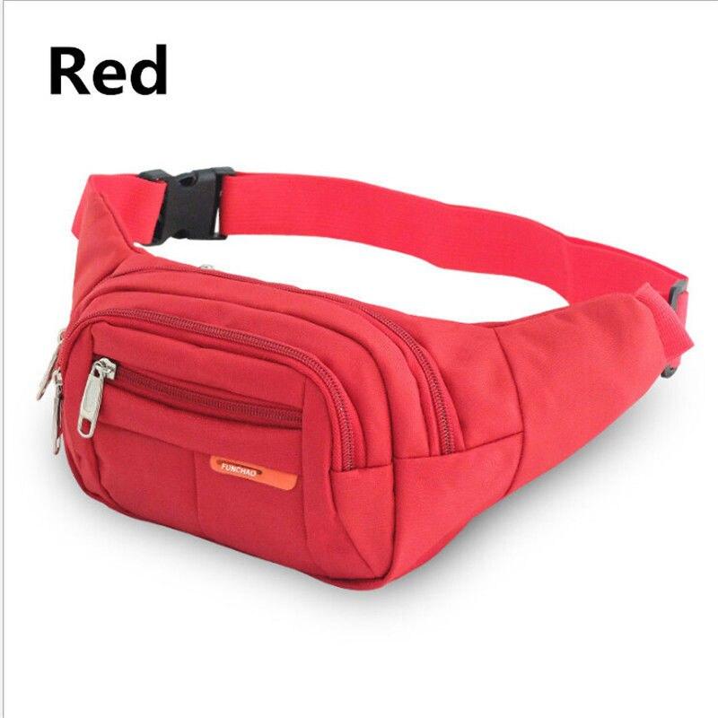 New Fanny Nylon Waist Pack For Men Women Hip Belt Bag Purse Pouch Pocket Travel Sport Bum Chest Bag Waterproof