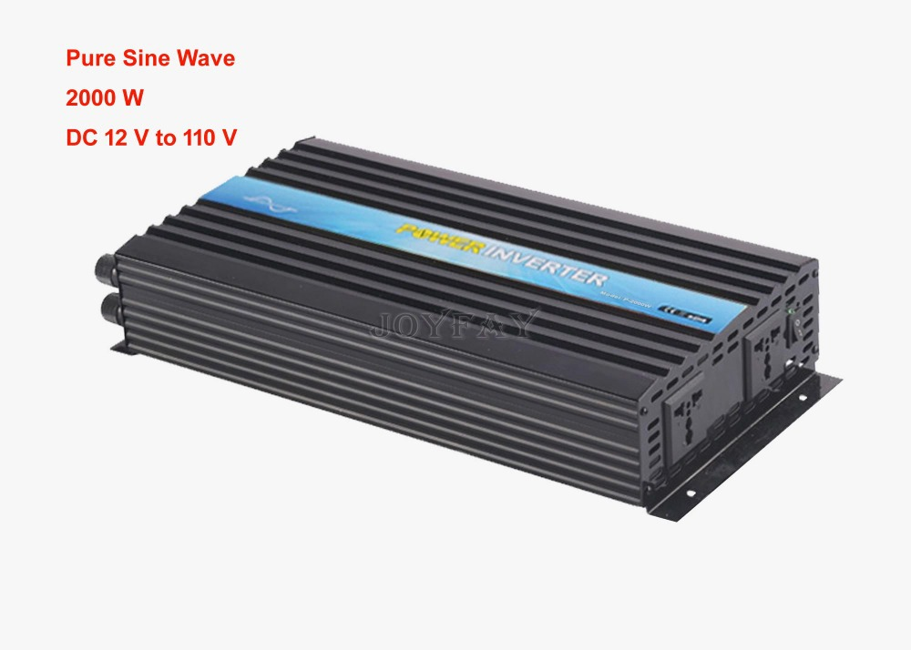 2000W Pure Sine Wave DC 12V to AC 110V Power Inverter One Year Warranty china manufacture sell 300w 12v to 115v car use inverter maili brand one year warranty