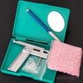 Pro Steel Ear Body Nose Piercing Gun Machine Tool Supply Kit Set + 98pcs Studs