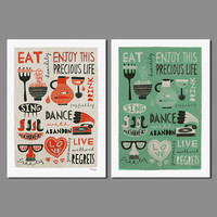 Big Size Letters Decoration Wall Art Pictures Posters Food Animals Canvas Painting For Children Kids Room