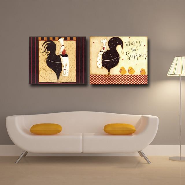 Vendita calda Cibo Poster per la Cucina casa decorativa su tela ...