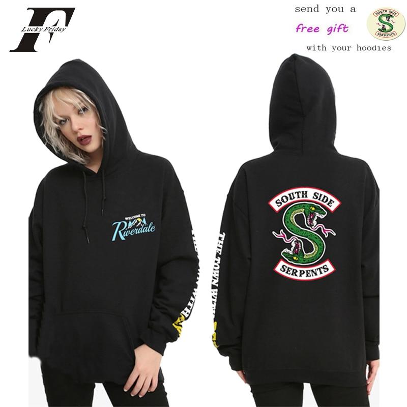 Riverdale Southside Serpent Sweater Zip Hoodie Thick Jacket Coat Men Sweatshirt