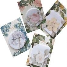 30 pacotes/lote kawaii flor cor decoração memorando almofada auto adesivo n vezes pegajoso notas escritório escola supplie atacado