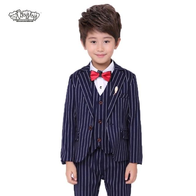7ba2fcea3127 Flower Boys Wedding Suit Blazer+Shirt+Vest+Pants+Tie 5Pcs School Suit for  Boys Formal Party Dress Suit Performance Costume N56. US  39.98. 2018 Kids  ...