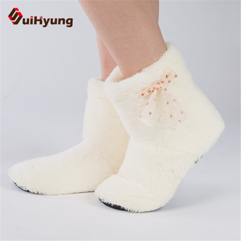 SuiHyung Womens Winter Indoor Shoes Plush Warm Cot