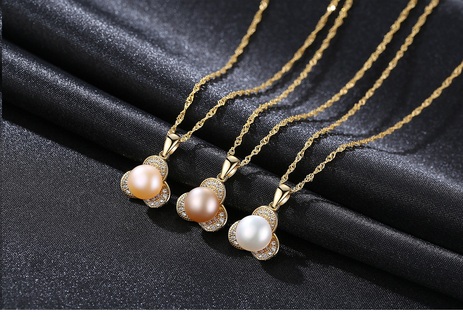 sterling silver necklace natural freshwater pearl boutique jewelry accessories gift G01sterling silver necklace natural freshwater pearl boutique jewelry accessories gift G01