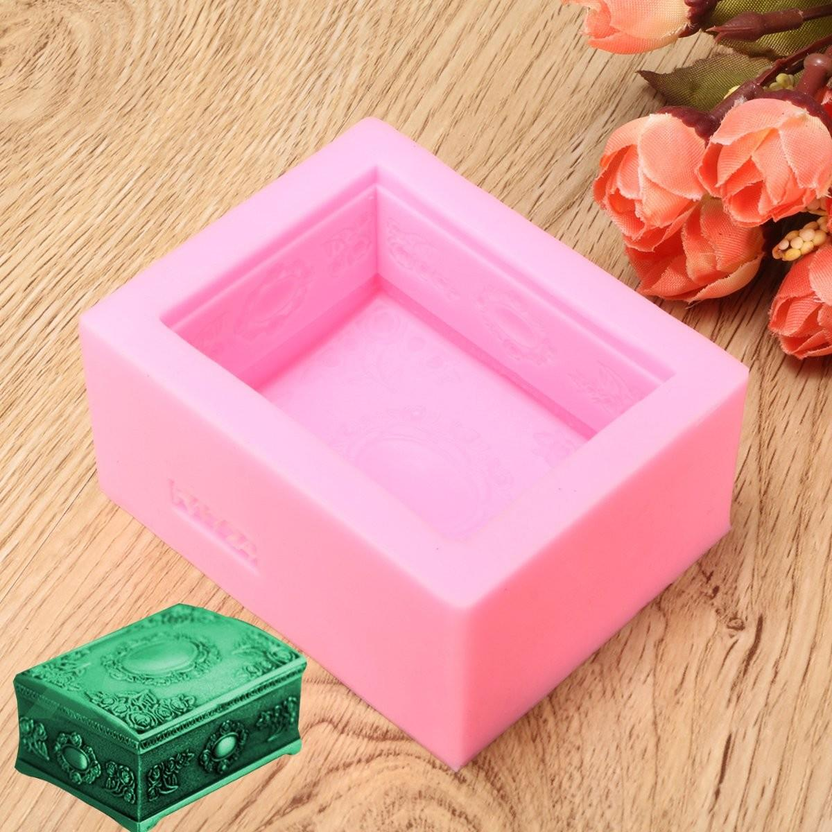 DIY Chocolate Silicone Molds Jewelry Box Soap Making Resin Craft