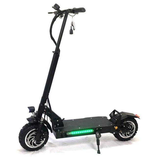 FLJ 11 дюймов внедорожный электрический скутер 60 в 3200 Вт Мощный Новый складываемый Электрический велосипед мотоциклы мотороллеры