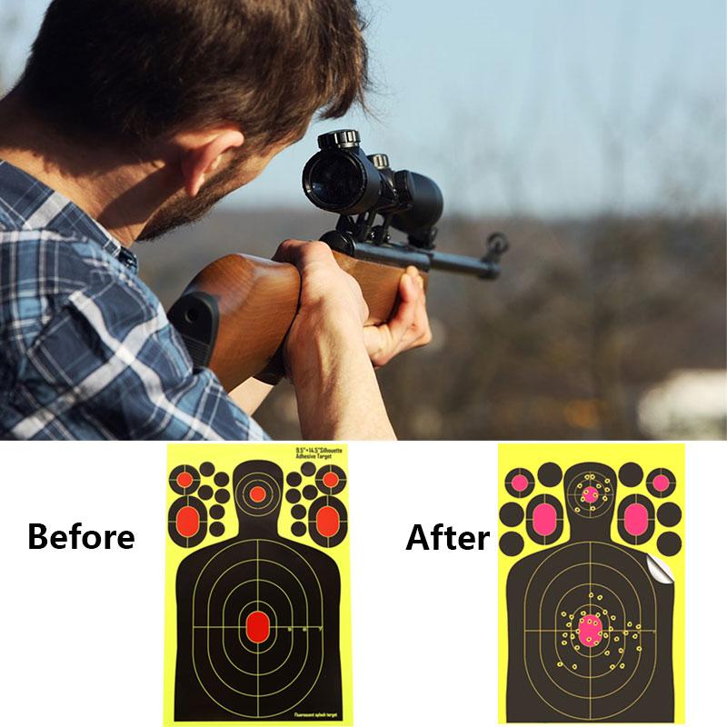 Target Stickers Shooting Target Practice Target Archery Paper Target Paper Yellow Economic Shotgun