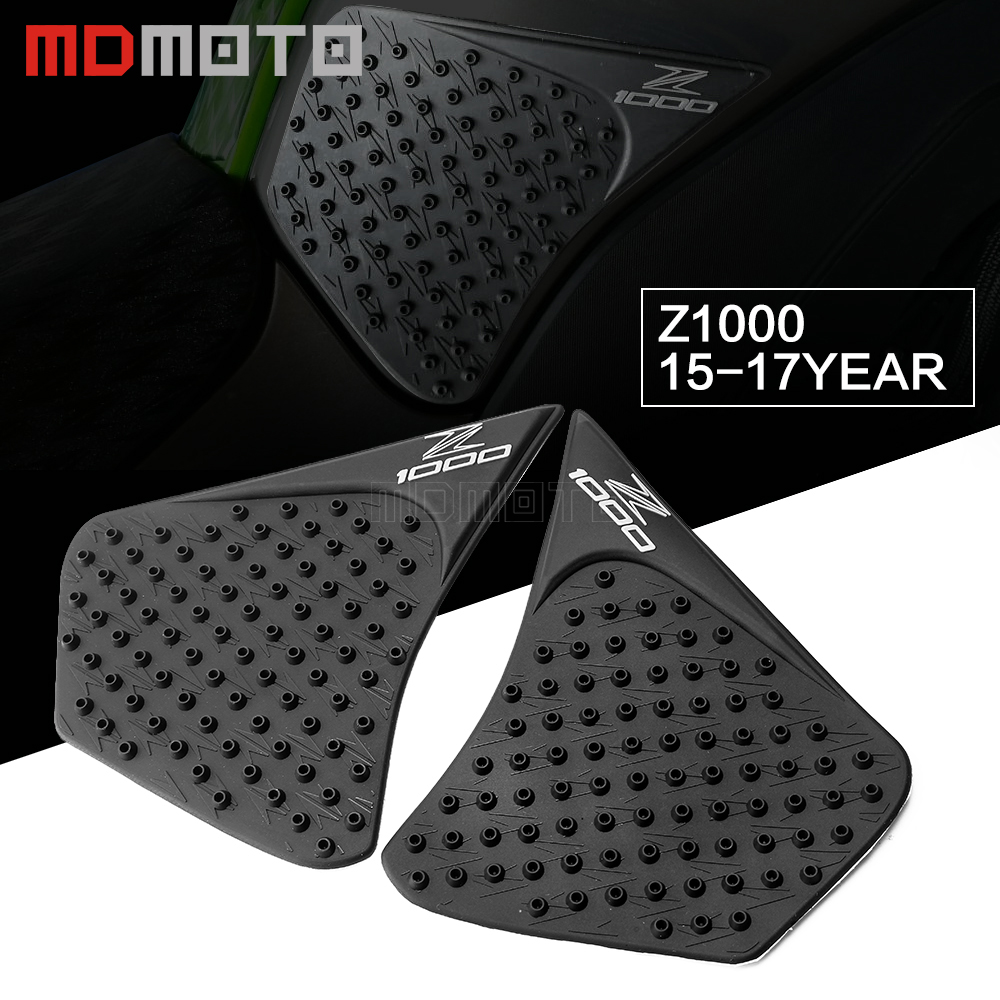 For Kawasaki <font><b>Z1000</b></font> 2007-2018 <font><b>2019</b></font> Motorcycle Anti slip Tank Pad 3M Side Gas Knee Grip Traction Pads Protector Stickers Cover image