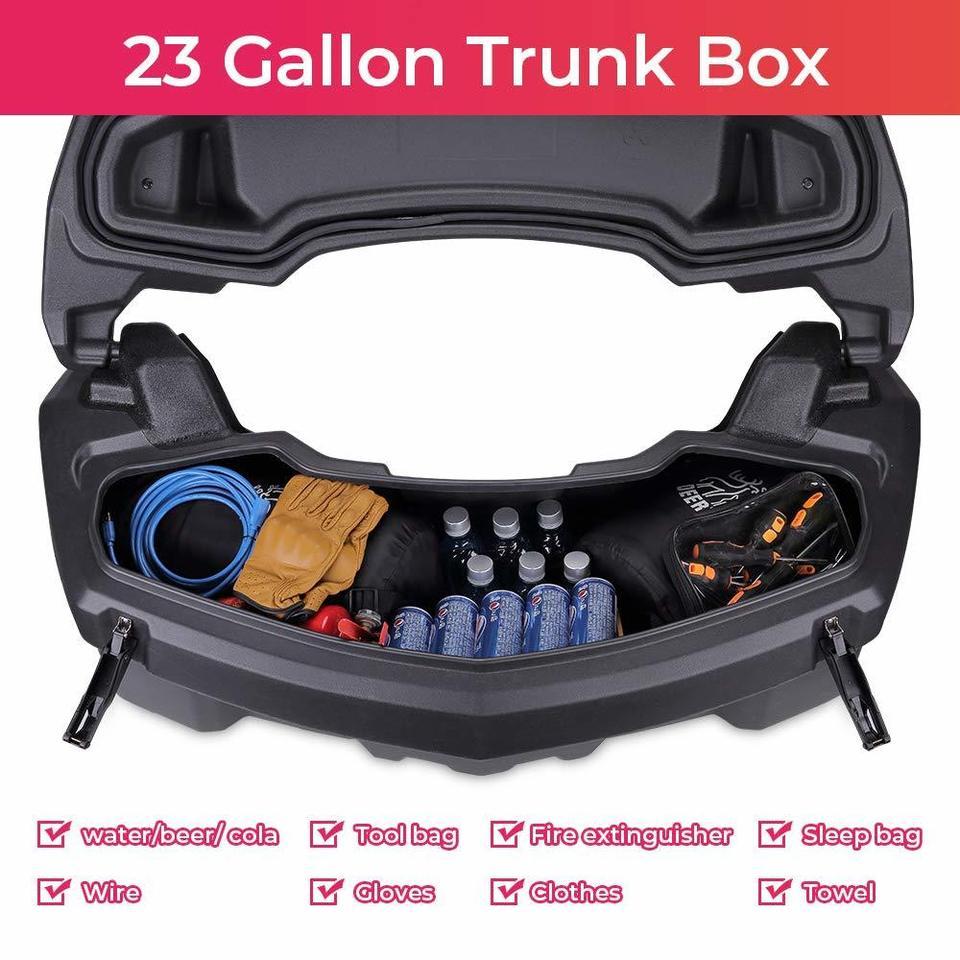 Utv Atv For Can Am Outlander Max 450 500 Renegade 500 Maverick X3 2013 2019 Trunk Rear Storage Cargo Box Black 2015 2016 2017 Atv Parts Accessories Aliexpress