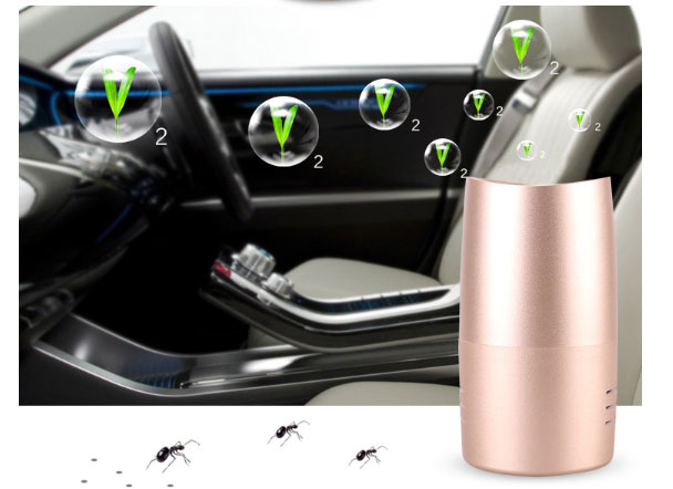 Negative ion car air purifier USB Office/living room/bedroom Oxygen bar Exhaust/bacteria/viruses smell of cigarettes image
