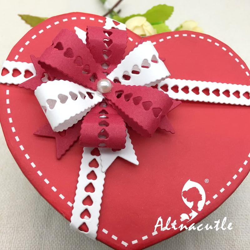 AlinaCraft METAL CUTTING DIES cut strap heart bow ribbon ...