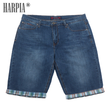 HARPIA Large Size Mens Casual Jeans Shorts Fashion Brand Slim Stretch Denim Short pants Men Summer streetwear Cowboy Jeans male 2016 summer brand mens jeans shorts plus size black blue stretch thin denim jeans short for men pants free shipping page 1