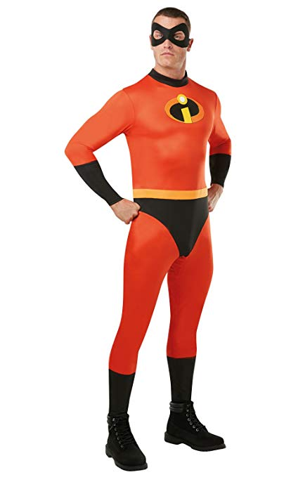 Deluxe Superhero Bob Halloween Costume Mr. Incredible 2 jumpsuit Costume adult mens Cosplay 3PCS/1set